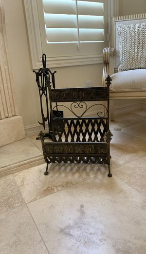 Fire place log holder/ magazine rack for Sale in Burbank, CA