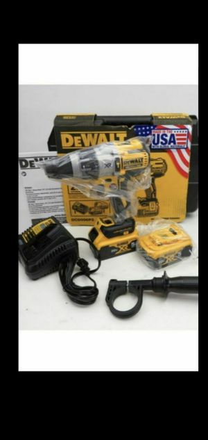 DEWALT 20-VOLT MAX XR LITHIUM ION BRUSHLESS CORDLES 1/2 IN 3-SPEED HAMMER DRILL KIT WITH (2)-BATTERIES 5.0AH CHARGER AND HARD CASE for Sale in San Bernardino, CA