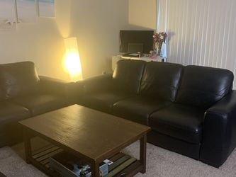 Black Italian Leather Couches for Sale in Decatur,  GA