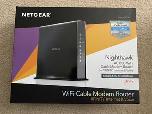 Netgear Nighthawk Cable Modem Router for Sale in Wimauma, FL