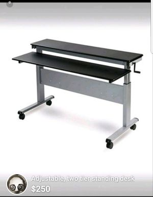 Standing sitting convertible two tier desk for Sale in Palmyra, VA