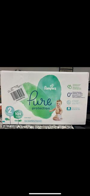 Brand New Unopened Box of Size 2 Pampers Pure Diapers for Sale in Lauderdale Lakes, FL