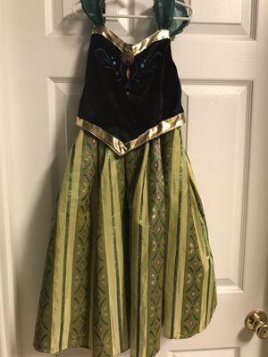 Authentic Walt Disney world parks Anna Frozen Coronation Day dress costume size 7/8 excellent Halloween for Sale in Crestview, FL