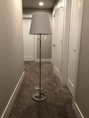 Nickel Plated Floor Lamp for Sale in Bothell, WA