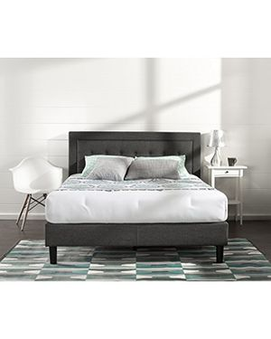 New In Box! Zinus Dachelle Upholstered Button Tufted Premium Platform Bed / King Size for Sale in Mason, OH