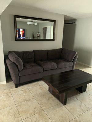 Cindy Crawford Metropolis microfiber sofa for Sale in Clearwater, FL