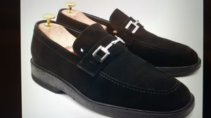 GUCCI Men's Black Suede Bit Loafers Slip On Dress Shoes Size US 10 E $540 Italy for Sale in Hayward, CA