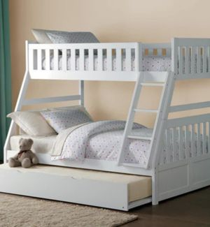 Galen White Twin/Full Bunk Bed for Sale in Ellicott City, MD