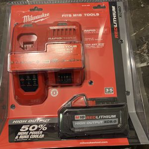 M18 18-Volt Lithium-Ion HIGH OUTPUT Starter Kit with XC 8.0Ah Battery and Rapid Charger for Sale in Orange, CA