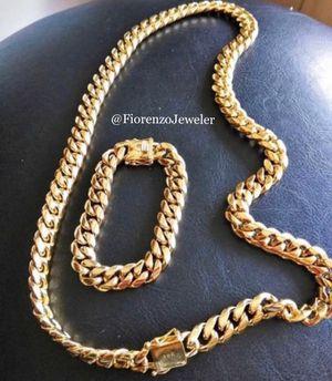 Cuban link chain set for Sale in Pembroke Pines, FL