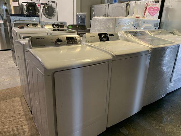 Top load Samsung washer dryer set