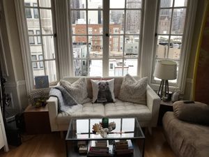 Comfy White Leather Couch for Sale in San Francisco, CA