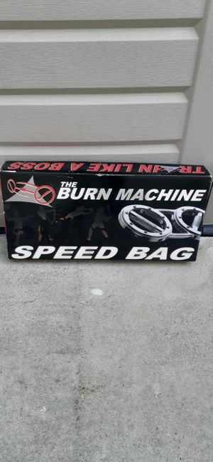 New The Burn Machine Workout Rotating Grip Novice Speed Bag 4lb for Sale in Gardena, CA