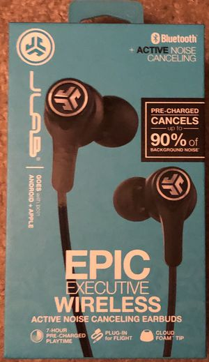 New Jlab Epic Executive Wireless Active noise canceling earbuds for Sale in Indianapolis, IN
