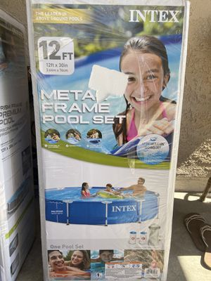Brand NEW Intex 12ft x 30in Metal Frame Swimming Pool Set Includes Filter Pump for Sale in San Diego, CA