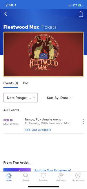 Fleetwood Mac Club Level Tickets for Sale in Orlando, FL