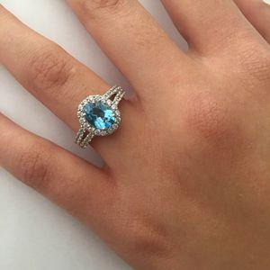 Lab Topaz Engagement Ring size 7 for Sale in Burke, VA