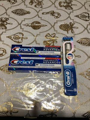 Toothpaste and Toothbrush for Sale in Chicago, IL