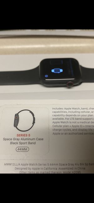 SPACE GRAY 44mm Series 5 Apple Watch for Sale in Cudahy, CA