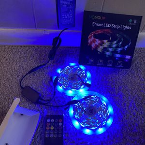 32.8ft RGB LED Light Strips 300 LEDs SMD5050 Color Changing Light Strips, Voice and Music Sync Smart LED Tape Lights for Home, TV, Bar and Party Decor for Sale in Mableton, GA