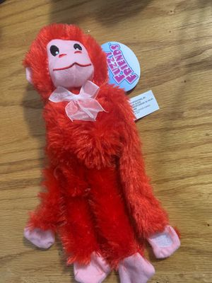 Fuzzy Friends stuffed red monkey w/ velcro for Sale in St. Cloud, MN