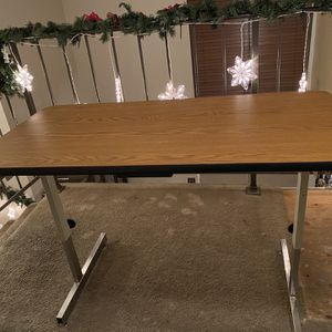 Heavy Duty Adjustable Office/Student/Craft Table for Sale in Ontario, CA
