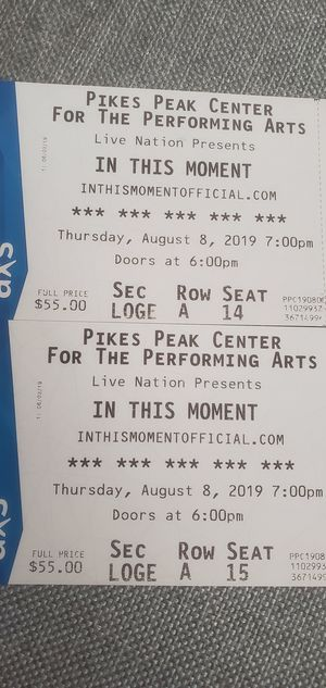 In This Moment tickets for Sale in Fountain, CO