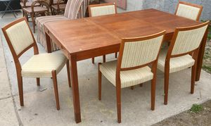 Teak Table with Leaf & 5 Chairs by Svegards Markaryd for Sale in Philadelphia, PA