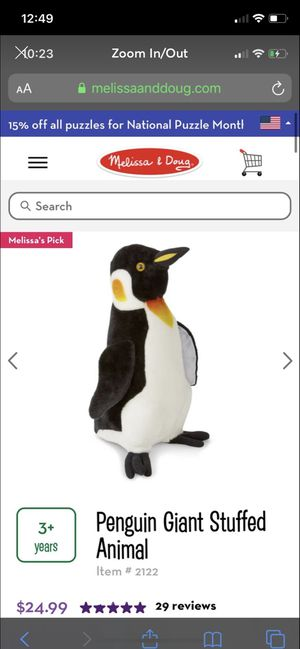 Penguin giant stuffed animal for Sale in Chicago, IL