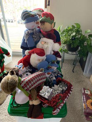 Christmas Decorations w tree bin for Sale in Manassas, VA