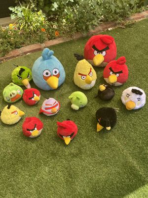 Angry Birds plushies collection for Sale in Los Angeles, CA