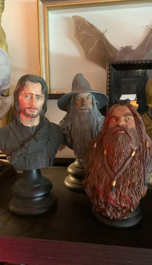 Sideshow Weta Lord of the rings busts (3) for Sale in Los Angeles, CA