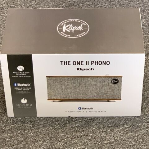 Brand New Sealed Klipsch The One II With Phono Wireless Tabletop Shelf Stereo, Walnut