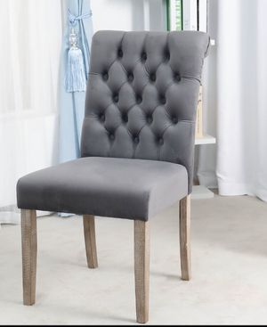 Tufted Upholstered Camran High Back Velvet Charcoal, Gray dining chair tables restaurant bar chairs for Sale in Fullerton, CA