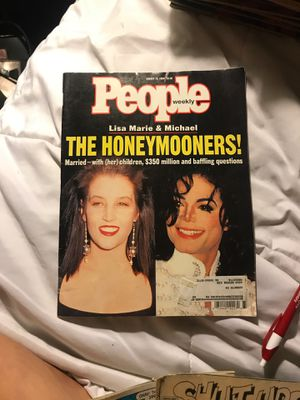 People magazine Lisa Marie and Michael Jackson married for Sale in Eau Claire, WI