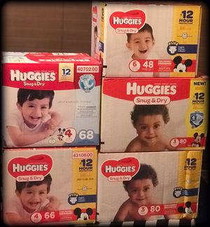 Huggies Diapers 🌺sizes 4 , 3, and 6 for Sale in Fresno, CA
