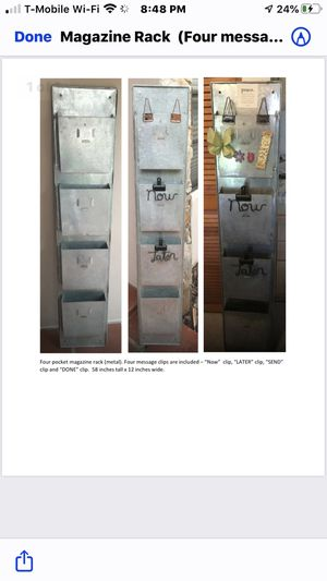 Magazine Rack with four message clips are included. for Sale in Miami, FL