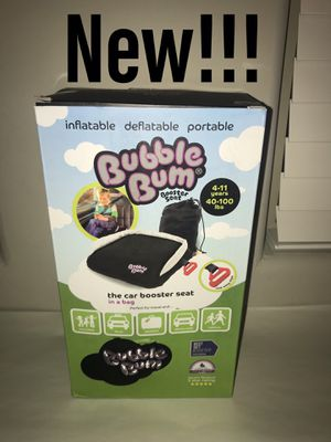 BubbleBum Inflatable Backless Booster Car Seat, Black for Sale in Las Vegas, NV