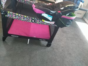 GRACO Playpen and CAR SEAT combo for Sale in Cleveland, OH