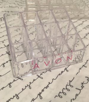 AVON Clear Acrylic 12 Lipstick Holder for Sale in Long Beach, CA