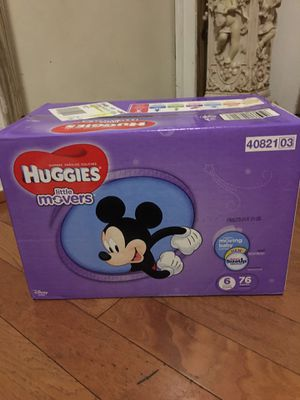 HUGGIES SIZE 6 76 pañales for Sale in Compton, CA