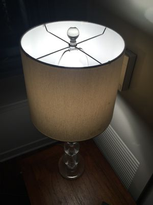 Crystal lamp and shade for Sale in Chicago, IL