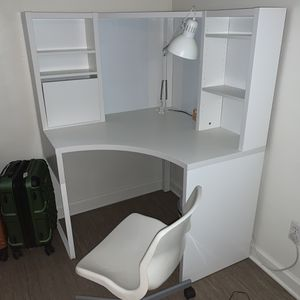 Ikea Corner Desk + Chair + Free Lamp for Sale in San Diego, CA