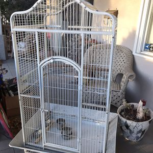 Large White Iron Bird Cage for Sale in Oakland, CA