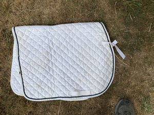 White English saddle pads for Sale in Lakewood, WA