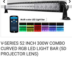 V - Series 300 watt combo curved RGB LED light bar ( 5 D projector lens) for Sale in Westminster, MD