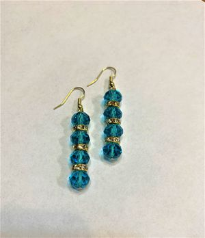 Bridal Wedding TURQUOISE Dangle Earring very shinny turquoise for Sale in Peoria, IL