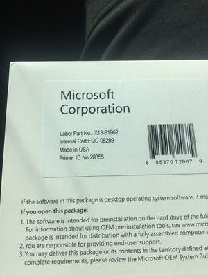 Microsoft Windows 7 Professional SP1 64bit (OEM) System Builder DVD 1 Pack new for Sale in Rockville, MD