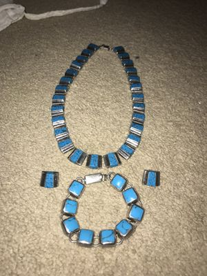 Turquoise set in sterling silver for Sale in Dublin, OH