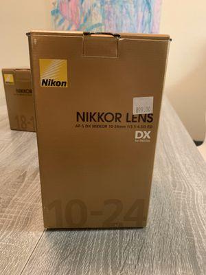 Nikon Nikkor Lens AF-S DX 10-24mm f/3.4-4.5G ED wide angle lens for Sale in Puyallup, WA